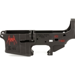 Spikes Tactical Stripped AR15 Lower Receiver, Color Filled - Spider