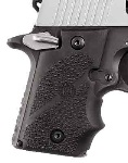 Hogue Automatic Wraparound Grip for Sig P238, Black - Ambidexterous Safety