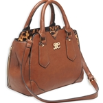 Bulldog Satchel Style CCW Purse - Chestnut