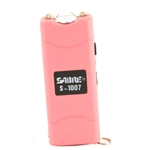 Sabre Short Stun Gun with LED Flashlight - Pink