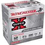 Winchester Super X 12 Gauge #4 High Brass Game Load, 2.75""