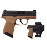 Sig Sauer P365 9mm Pistol w/ FDE Frame, Value Pack
