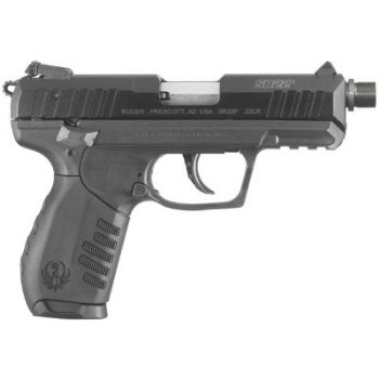 Ruger SR22 PBT .22LR, Threaded - Black