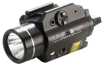 StreamLight TLR-2 G Tac Light w/ Strobe & Green Laser, 300 Lumen