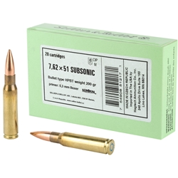 Sellier & Bellot Subsonic .308 Win, 200gr BTHP