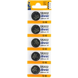 CrimsonTrace CR2032 Lithium Batteries, 5-pack