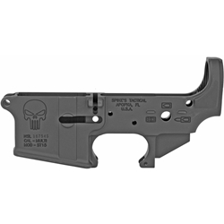 Spikes Tactical Stripped AR15 Lower Receiver - Punisher