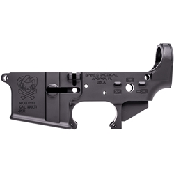 Spikes Tactical Stripped AR15 Lower Receiver, Pipe Hitters Union Joker