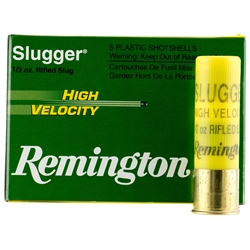 "Remington High Velocity Slugger, 20 Gauge 2 3/4"" 1/2 OZ"