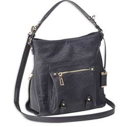 Bulldog Hobo Anna Purse w/ Holster - Black