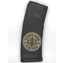 JJ Laserworks 'Guns and Coffee' Lasered 30-Round PMag